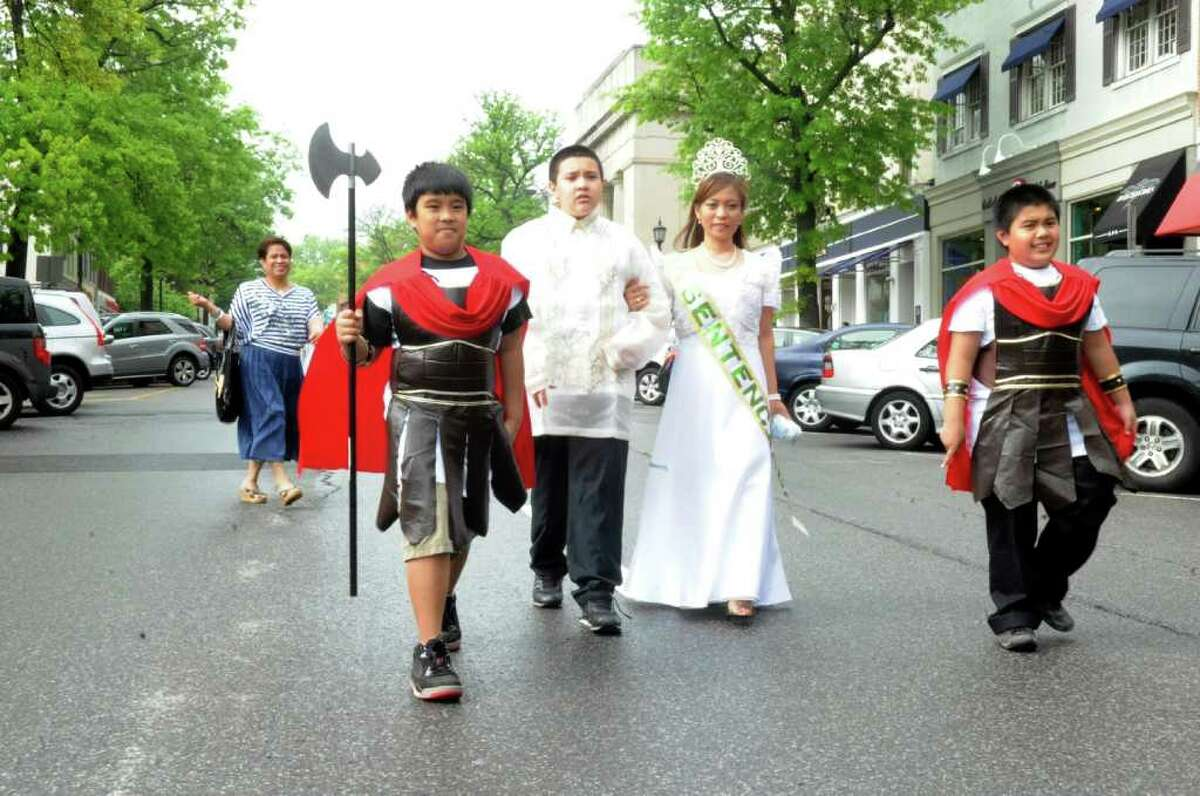 The Connecticut Association of Filipino American Families parade to celebrate Santacruzan (Holy Cross) festival on Greenwich Avenue, on Monday, May 15, 2011.