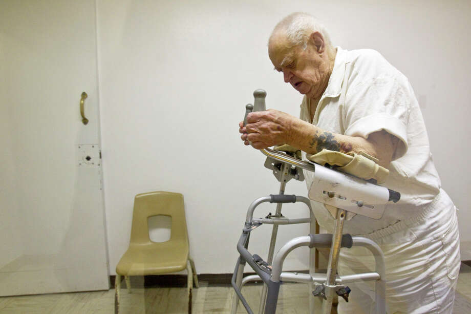 Raymond Palen is an inmate at the Estelle Unit in Huntsville. An aging inmate population has state lawmakers earger to create a bill for early release of the feeble and chronically ill. Photo: Melissa Philip/Houston Chronicle / © 2010 Houston Chronicle