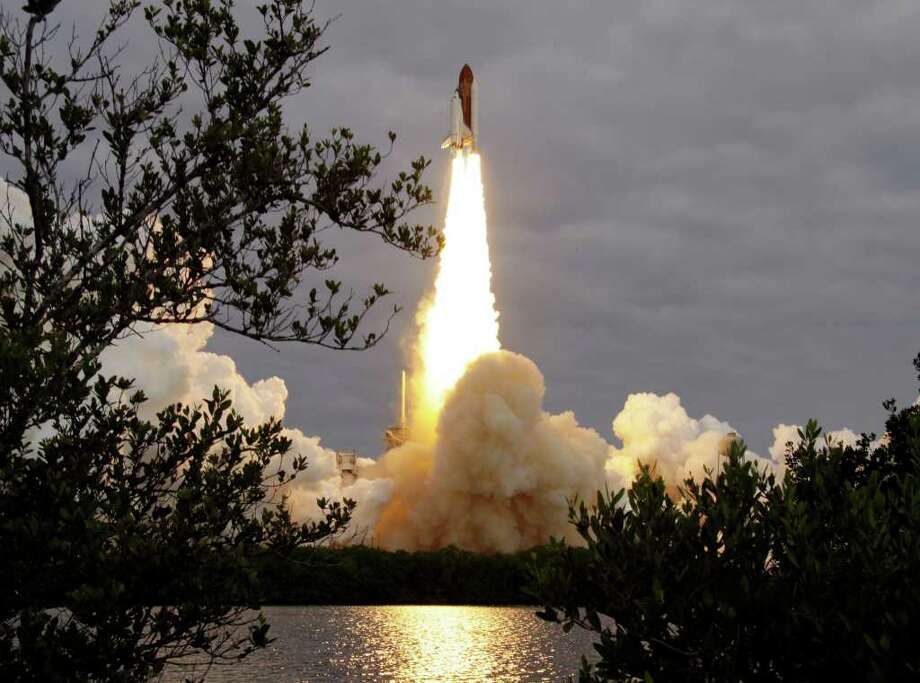 The space shuttle Endeavour lifts off from Kennedy Space Center in Cape Canaveral, Fla., Monday, May 16, 2011. The space shuttle Endeavour began a 14-day mission to the international space station. Photo: AP