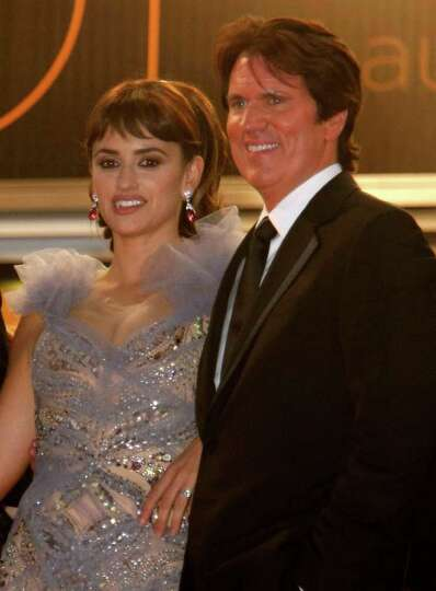 Actress Penelope Cruz and director Rob Marshall leave after the screening of Pirates of the Caribbea