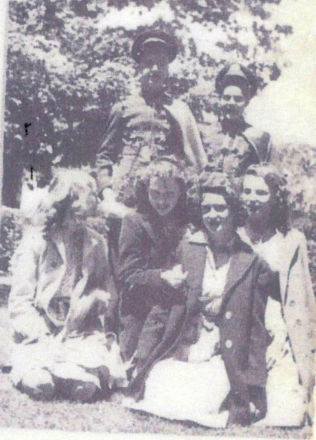 Charlie Mitchell, in center, back row, is seen here in 1944, when he was a freshman at Danbury High School.