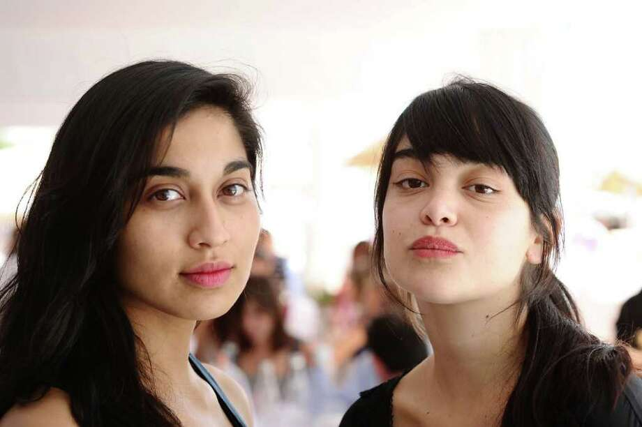 ":  Actress Gabriela Arancibia (L) and Nathalia Galgani pose at a ""Bonsai"" portrait session during the 64th Annual Cannes Film Festival at Majestic Beach Pier on Monday in Cannes, France. Photo: Ian Gavan, Getty Images / 2011 Getty Images"