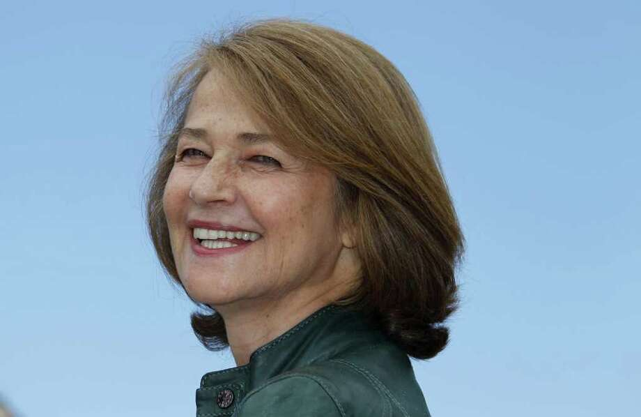 "British actress Charlotte Rampling poses during the photocall of ""The Look"" presented in the Cannes Classics selection at the 64th Cannes Film Festival on Monday in Cannes.  AFP PHOTO / FRANCOIS GUILLOT Photo: FRANCOIS GUILLOT, AFP/Getty Images / 2011 AFP"