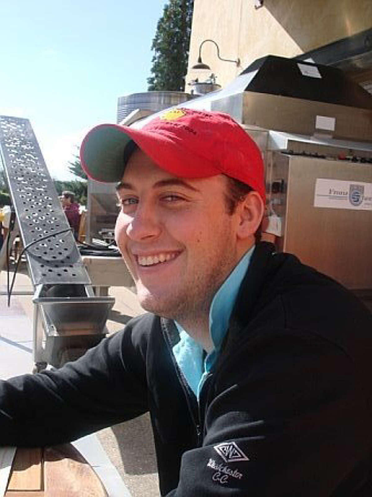Stephen Meszkat, 28, of New Canaan died in a car crash Friday night on Ponus Ridge Road.