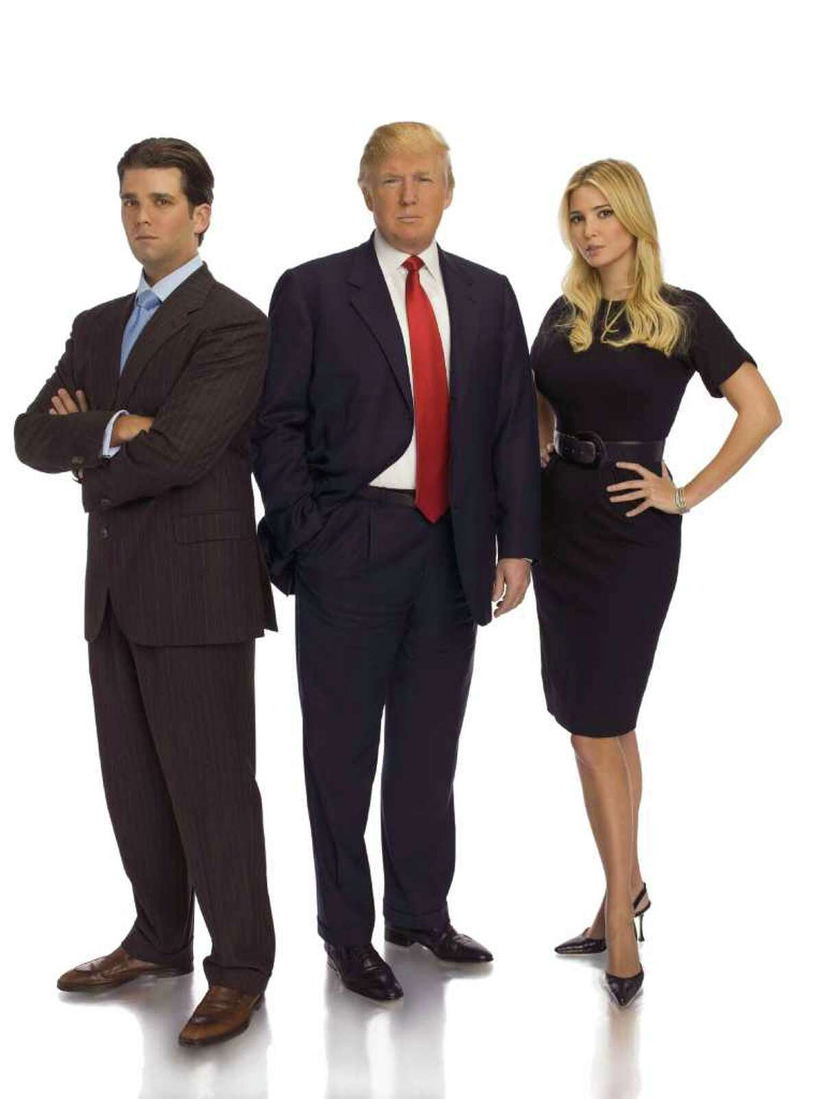 THE APPRENTICE -- Pictured: (l-r) Donald Trump, Jr., Donald Trump, Ivanka Trump -- NBC Photo: Virginia Sherwood
