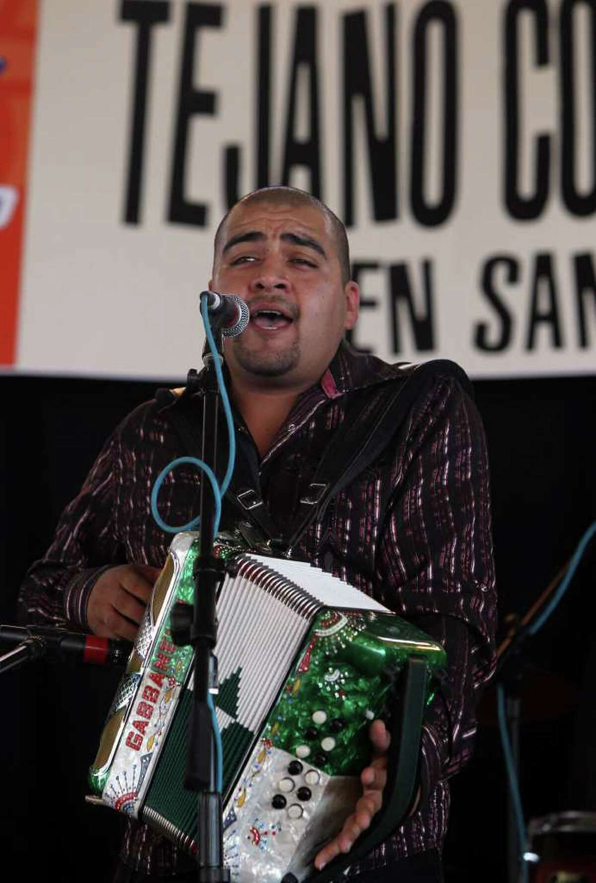 Salomon (cq) Ramos plays the accordion leading Grupo Retono Sunday May 15, 2011 at Rosedale Park during the last day of the Tejano Conjunto Festival. The festival started last Thursday. JOHN DAVENPORT/jdavenport@express-news.net