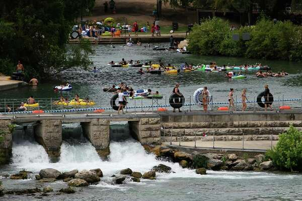 Prince Solms Park and the Comal River Tube Chute was a bevy of activity on Labor Day in New Braunfels, Texas on Monday, Sept. 6, 2010. Kin Man Hui/kmhui@express-news.net