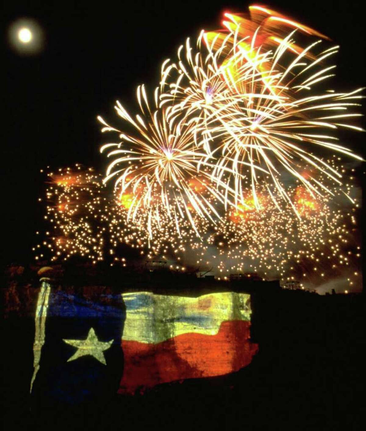 The Lone Star Spectacular fireworks show at Six Flags Fiesta Texas