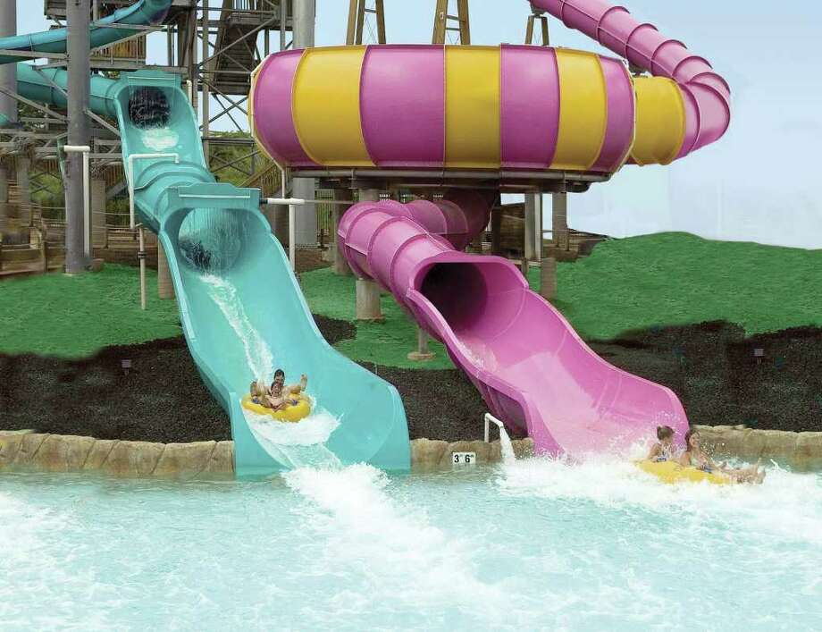 White Water Bay at Six Flags Fiesta Texas has rides ranging from maximum to mild thrill levels.