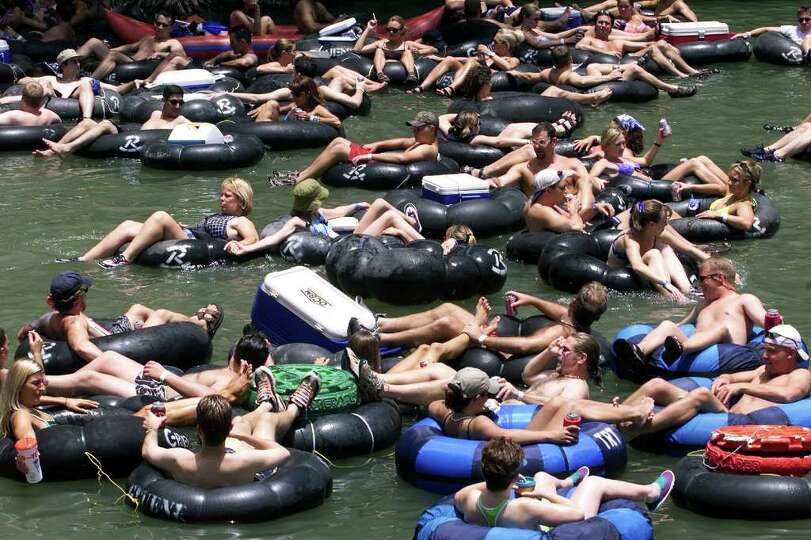 Metro  Tubers were out in droves on the Guadalupe River near Gruene Saturday on the first day of the