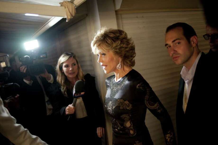"Jane Fonda arrives for the party of the film ""Tree of Life"" at the 64th Cannes Film Festival in Cannes.   AFP PHOTO / FRED DUFOUR Photo: FRED DUFOUR, AFP/Getty Images / 2011 AFP"