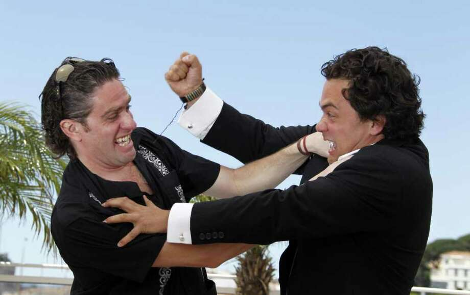 "Mexican director Everardo Gout (R) jokes with Mexican actor Leopoldo Gout during the photocall of ""Dias De Gracias"" presented in the Sceance de Minuit selection at the 64th Cannes Film Festival on Tuesday in Cannes.      AFP PHOTO / FRANCOIS GUILLOT Photo: FRANCOIS GUILLOT, AFP/Getty Images / 2011 AFP"
