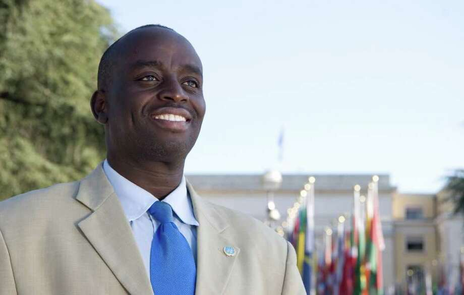 """Harvard graduate and a Human Rights Lawyer for the United Nations, Chris Mburu in the documentary """"A Small Act."""" Photo: Contributed Photo / New Canaan News"""
