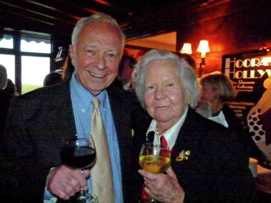 First Selectman Jeb Walker and Dr. Charlotte Brown at the recent Hooray for Hollywood fundraiser. Photo: Contributed Photo / New Canaan News