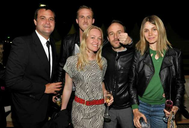 "Producer Jamie Patricof, actor Ryan Gosling, producer Lynette Howell, director Derek Cianfrance and guest attend the ""Art of Elysium Paradis Dinner and Party"" at Michael Saylor's Yacht, Slip S05 during the 63rd Annual Cannes Film Festival on May 19, 2010, in Cannes, France.  (Photo by John Shearer/Getty Images for Art of Elysium) Photo: John Shearer / 2010 Getty Images"