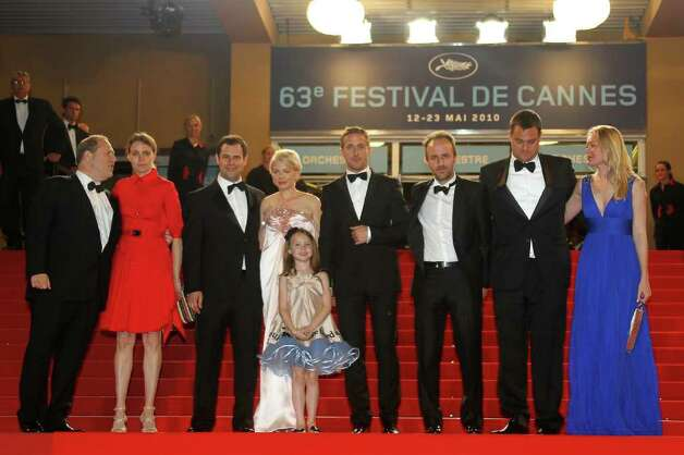 "US director  Derek Cianfrance, Canadian actor Ryan Gosling and US actress Michelle Williams arrive for the screening of ""Blue Valentine"" presented in the Un Certain Regard selection at the 63rd Cannes Film Festival on May 18, 2010 in Cannes.   (VALERY HACHE/AFP/Getty Images) Photo: VALERY HACHE / AFP"