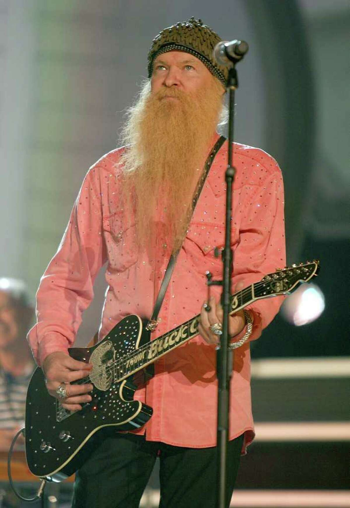 LAS VEGAS - MAY 22: Musician Billy Gibbons of ZZ Top onstage during the rehearsals for the Buck Owens tribute at the Academy of Country Music Awards held at the MGM Grand Garden Arena on May 22, 2006 in Las Vegas, Nevada. (Photo by Kevin Winter/Getty Images)