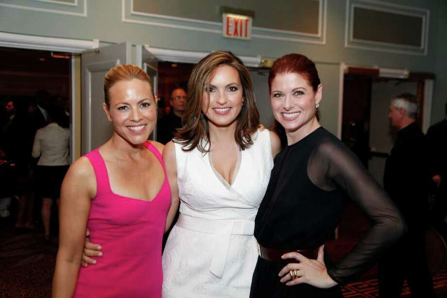 "2011 NBC UPFRONT PRESENTATION -- Green Room -- Pictured: (l-r) Maria Bello, ""Prime Suspect"", Mariska Hargitay, ""Law & Order: Special Victims Unit"", Debra Messing, ""Smash"" -- Photo by: Heidi Gutman/NBC Photo: Heidi Gutman / © NBC"