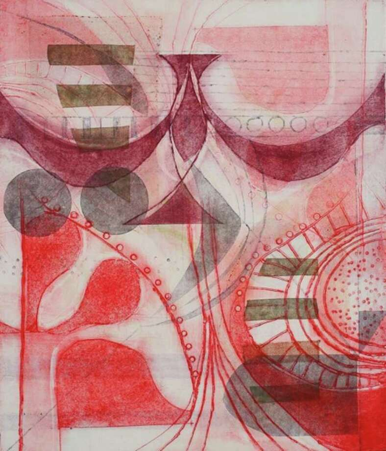 """Karen Vogel's """"Redscape"""" will be on display. Photo: Contributed Photo / Darien News"""