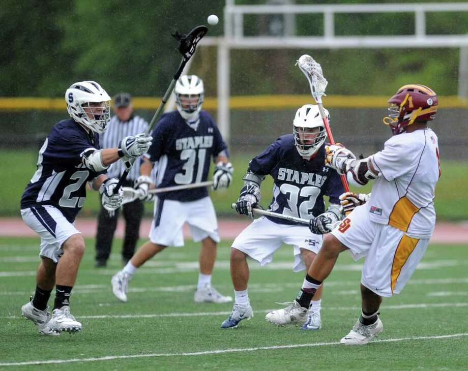 Tuesday's lacrosse game at St. Joseph High School on May 17, 2011. Photo: Lindsay Niegelberg / Connecticut Post