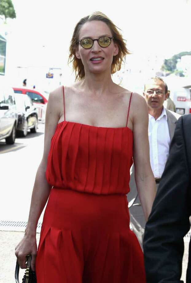 CANNES, FRANCE - MAY 18:  Actress Uma Thurman at the Palais des Festivals during the 64th Annual Cannes Film Festival on May 18, 2011 in Cannes, France. Photo: Andreas Rentz, Getty Images / 2011 Getty Images