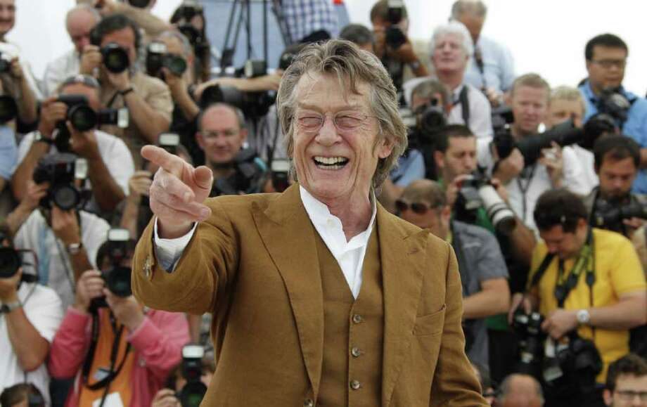 "British actor John Hurt poses during the photocall of ""Melancholia"" presented in competition at the 64th Cannes Film Festival on May 18, 2011 in Cannes.  AFP PHOTO / FRANCOIS GUILLOT Photo: FRANCOIS GUILLOT, AFP/Getty Images / 2011 AFP"
