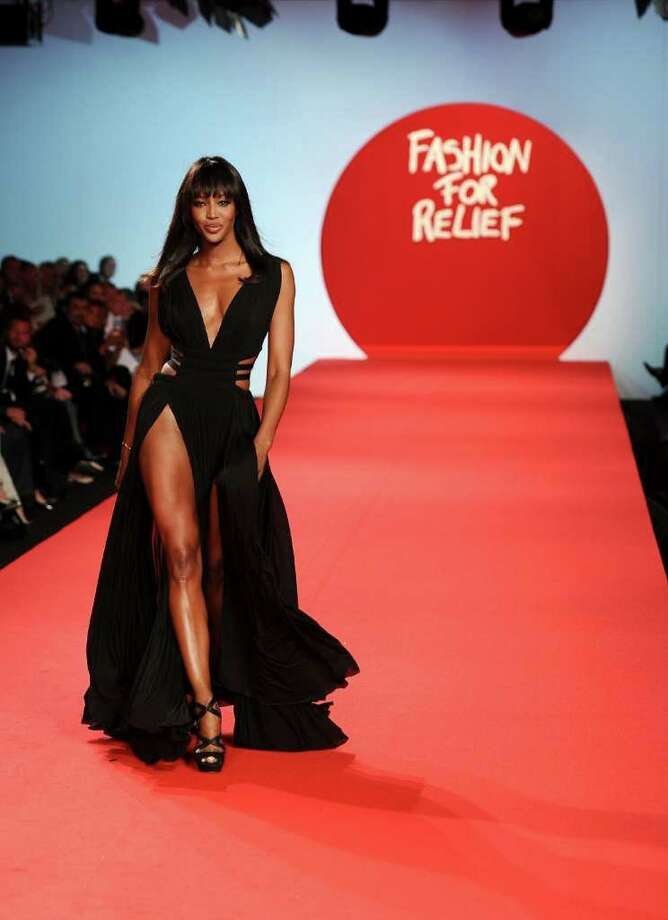 CANNES, FRANCE - MAY 16:  Model Naomi Campbell walks the runway at Fashion For Relief at Forville market during the 64th Annual Cannes Film Festival on May 16, 2011 in Cannes, France.  (Photo by Ian Gavan/Getty Images) Photo: Ian Gavan, Stringer / 2011 Getty Images