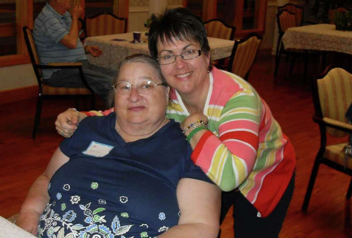 Elaine Donahue and Carol Hill are reunited at the recent reunion at Candlewood Valley Health & Rehabilitation Center.