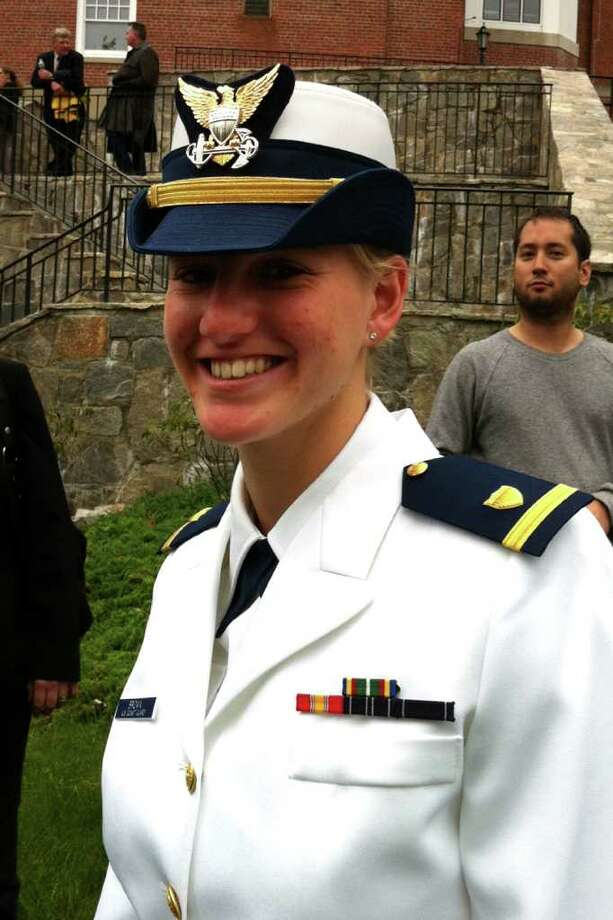 Danielle Rae Brown of Westport was one of the cadets to graduate from the United States Coast Guard Academy in New London, Conn. May 18th, 2011. Photo: Linda Connor Lambeck / Connecticut Post