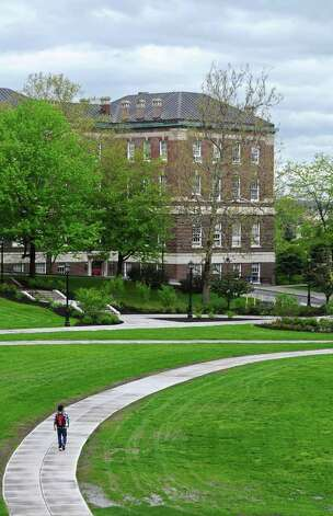 A student walks on the RPI campus on Wednesday, May 18, 2011, in Troy, NY. An RPI student was diagnosed with measles.( Philip Kamrass / Times Union) Photo: Philip Kamrass