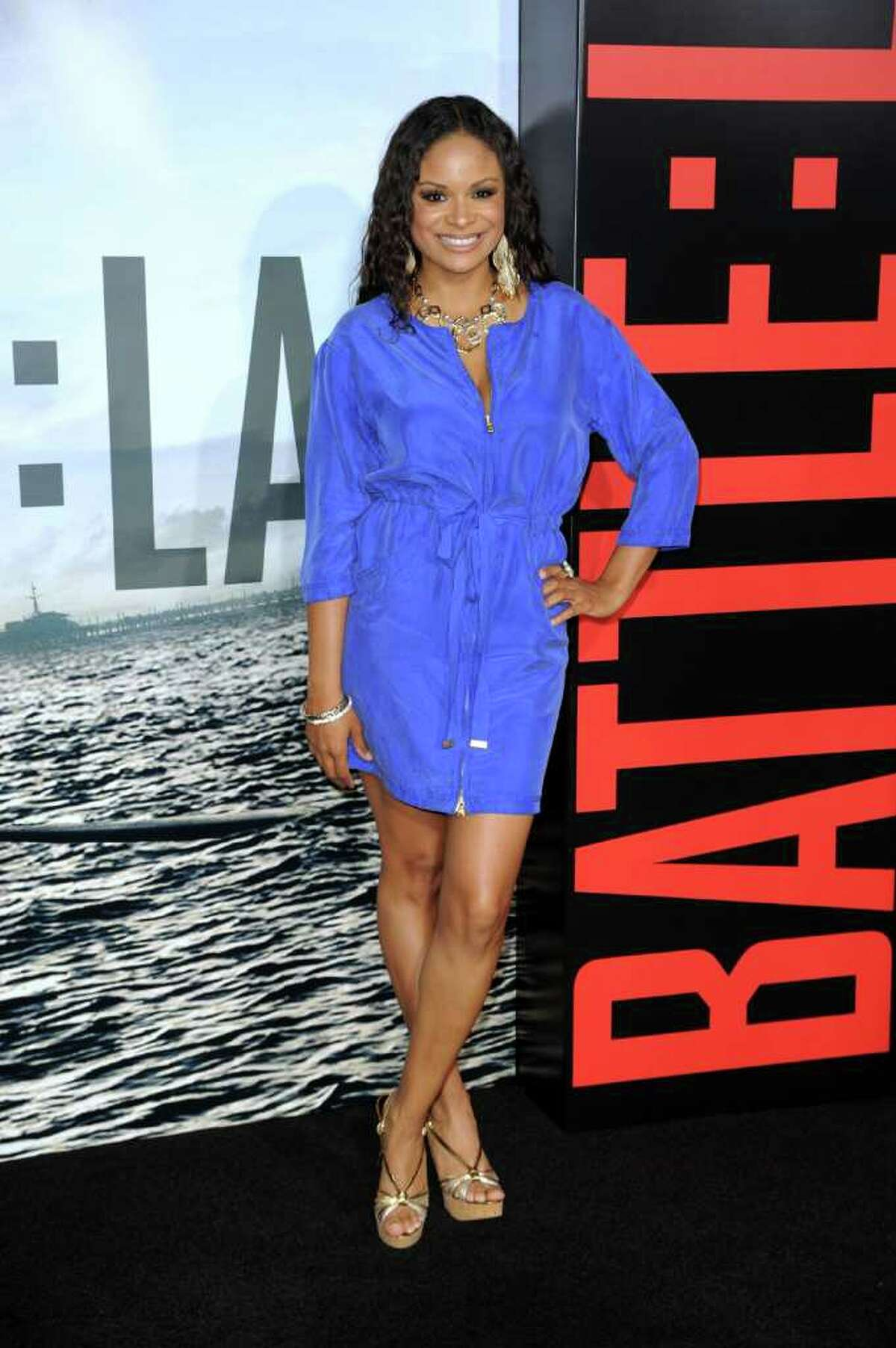 """Actress Joyful Drake arrives at the premiere of Columbia Pictures' """"Battle: Los Angeles"""" at the Regency Village Theater on March 8 in Westwood, Calif."""