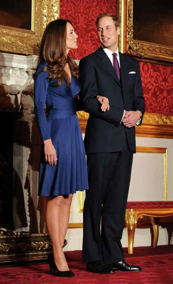 The dress that started it all, according to USA Today: Kate Middleton wears a sapphire Issa creation to announce her engagement to Prince William last November. In her wake, a trend was born as celebrities worldwide tossed aside their little back dresses for the infinite hues of blue. We took a closer look and, sure enough, since just befire spring arrived, the red carpets of the world have seen everything from iris to cerulean, navy to indigo and everything between. Photo: BEN STANSALL, AFP/Getty Images / 2010 AFP