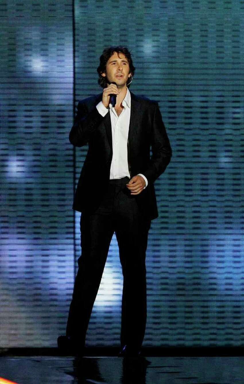 Josh Groban performs during a star-studded double-taping of