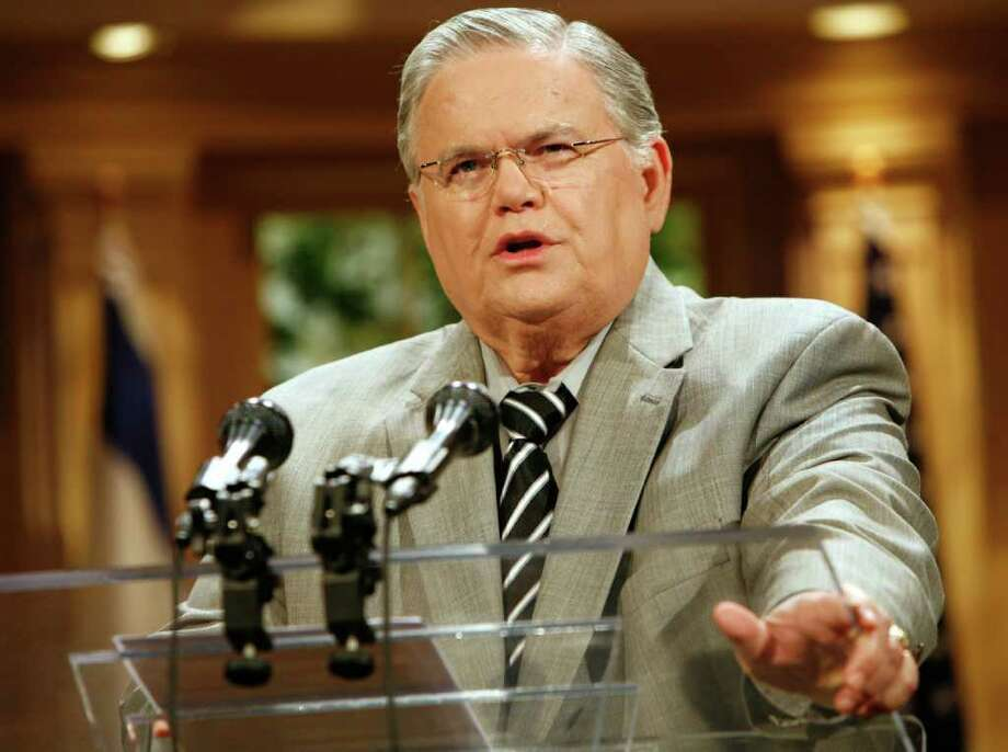 The Rev. John Hagee, who leads Cornerstone Church, began Christians United For Israel in 2006. Photo: Associated Press File Photo / AP