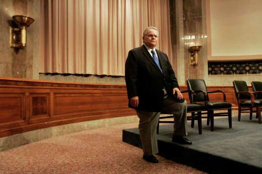 San Antonio Pastor John Hagee waits for Texas Senators John Cornyn and Kay Bailey Hutchison to arrive for a private meeting with the Christians United for Israel Texas delegates in the Dirksin Building at the United States Capitol on Wednesday, July 18, 2007. Photo: LISA KRANTZ, SAN ANTONIO EXPRESS-NEWS / SAN ANTONIO EXPRESS-NEWS