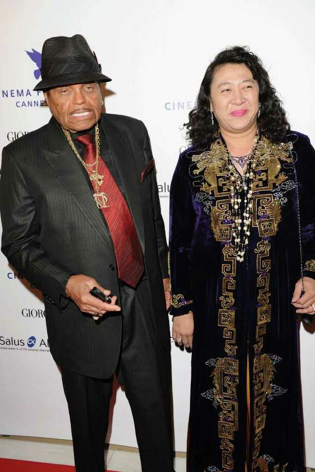Joe Jackson (L) and guest  attends Cinema For Peace during the 64th Annual Cannes Film Festival in Cannes, France. Photo: Ian Gavan, Getty Images / 2011 Getty Images