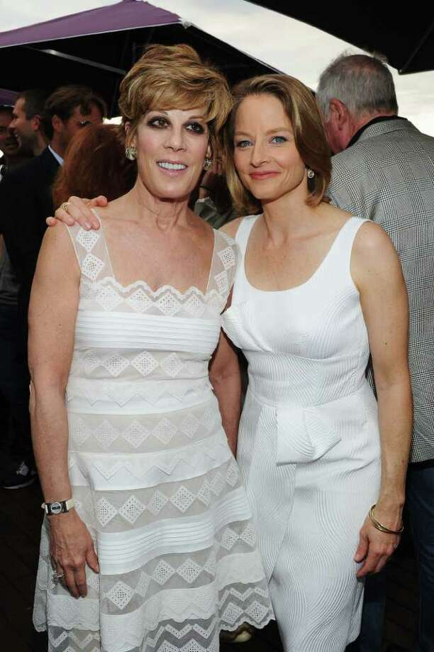 Peggy Siegal (L) and actress Jodie Foster attend a Hollywood Reporter party honoring Jodie Foster presented by vitaminwater during the 64th Annual Cannes Film Festival at Majestic Beach Pier in Cannes, France. Photo: Michael Buckner, Getty Images / 2011 Getty Images