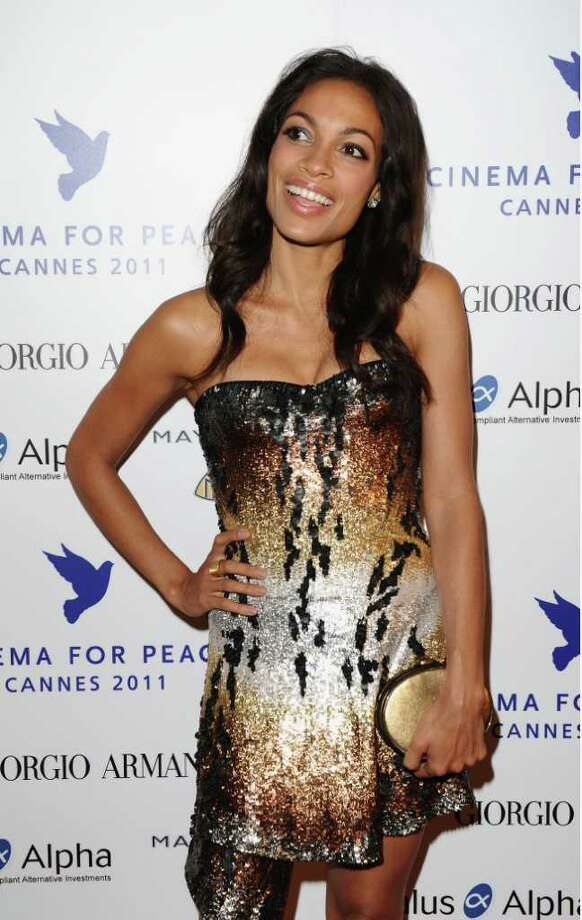 Actress Rosario Dawson attends Cinema For Peace during the 64th Annual Cannes Film Festival in Cannes, France. Photo: Ian Gavan, Getty Images / 2011 Getty Images