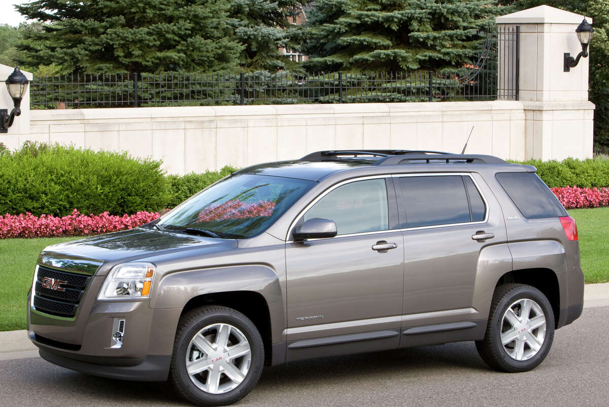 The 2011 GMC Terrain crossover can pull trailers weighing up to 1,500 pounds with the standard four-cylinder engine, or 3,500 pounds with the optional V-6.