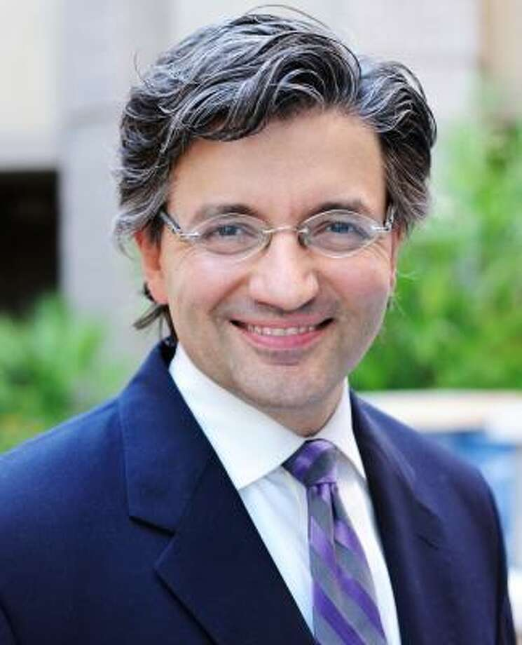"""Dr. Zuhdi Jasser, head of the American Islamic Forum for Democracy, has been called a """"self-hating Muslim"""" for his conservative associations. Photo: MATTHEW DUTILE"""