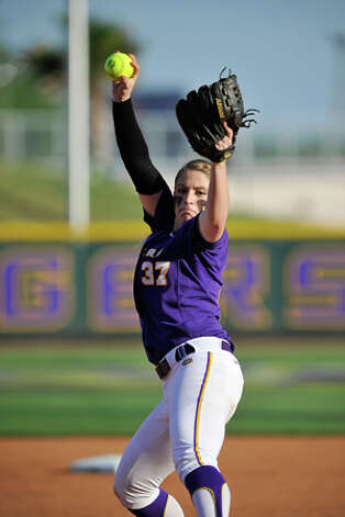 LSU pitcher Rachele Fico, the former phenom from Masuk, has gone 14-9 with two saves and a 2.43 ERA in 31 games as sophomore. Photo: Contributed Photo /