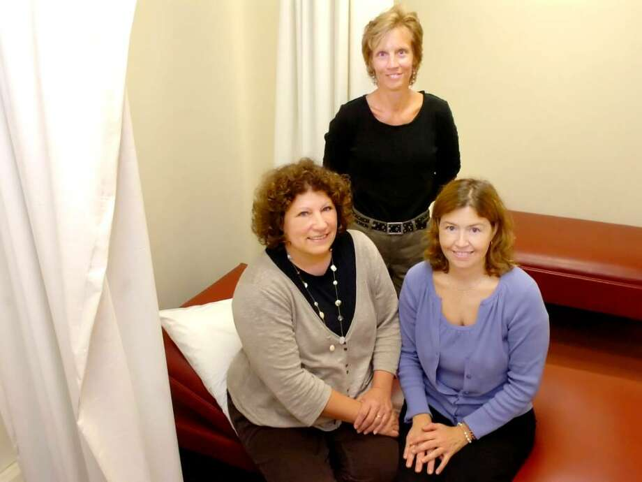 Greenwich, Sept 23, 2009. The three nurses at GHS: Left Mary Keller, Mary Ann O'Connor, center, Mary Anne Belanger. (all cq) They are in the rest room (where you can sleep) of the nurse wing  in the highschool. Photo: Helen Neafsey / Greenwich Time