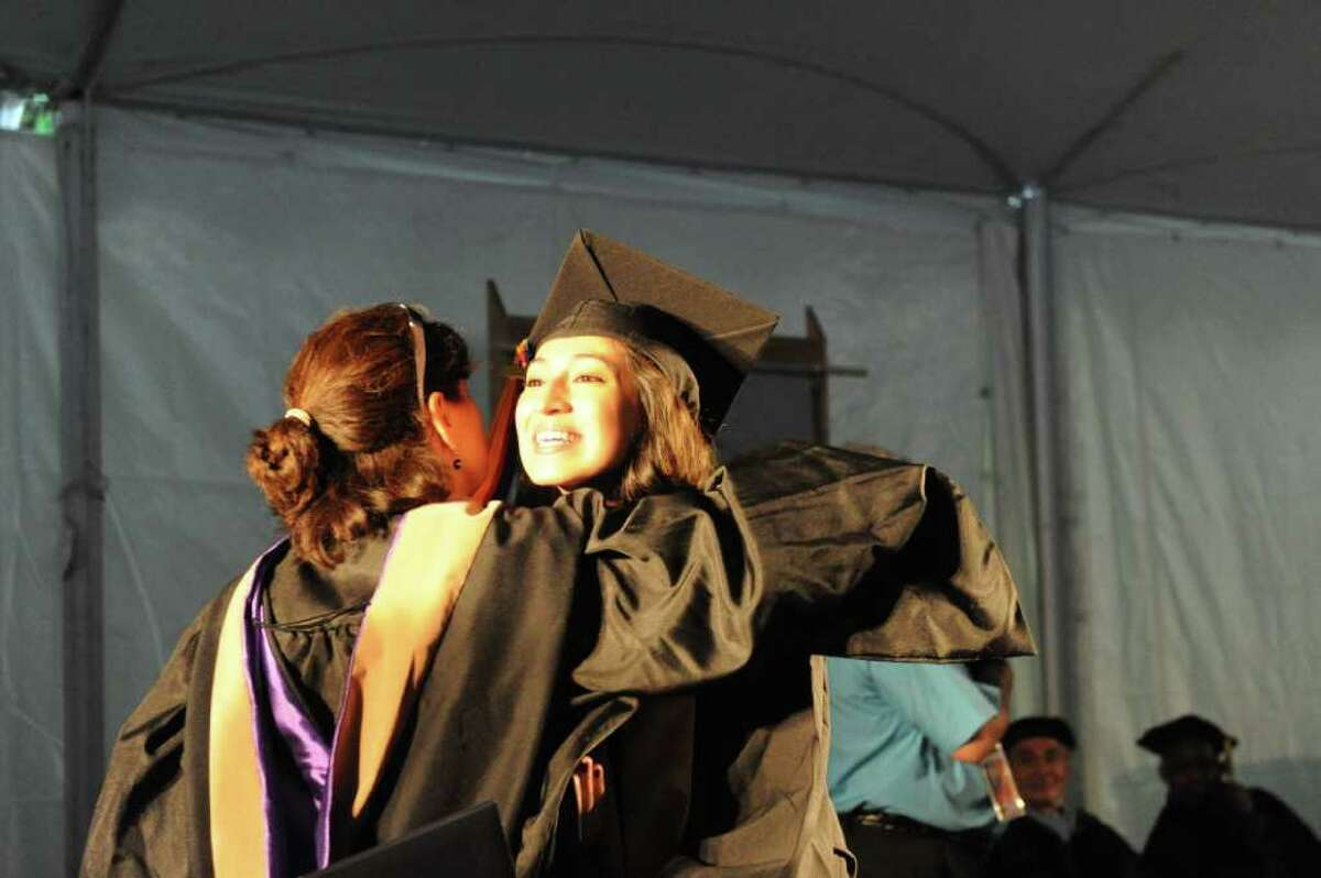 2011 commencement ceremony at Norwalk Community College in Norwalk, Conn., May 19, 2011.