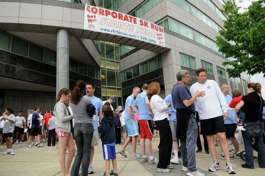 More than 1,900 participants gathered for the RFR Realty Corporate 5K Run/Walk in downtown Stamford, CT on Thursday, May 19, 2011 for a fundraiser to benefit the Boys & Girls Club of Stamford. Photo: Shelley Cryan / Shelley Cryan freelance; Stamford Advocate freelance