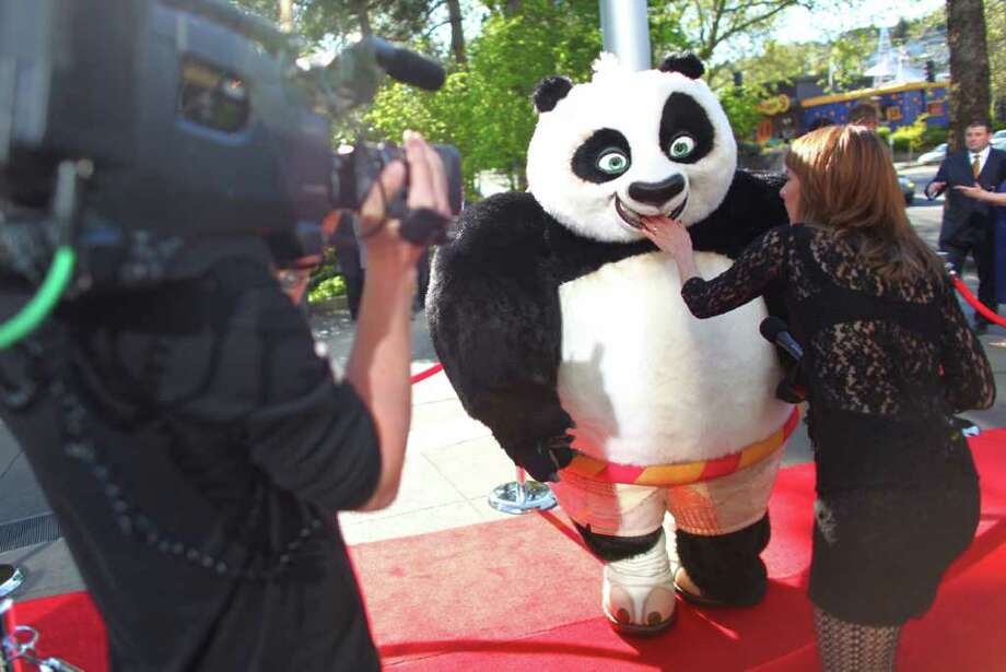 Po the Kung Fu Panda walks on the red carpet. Photo: JOSHUA TRUJILLO / SEATTLEPI.COM