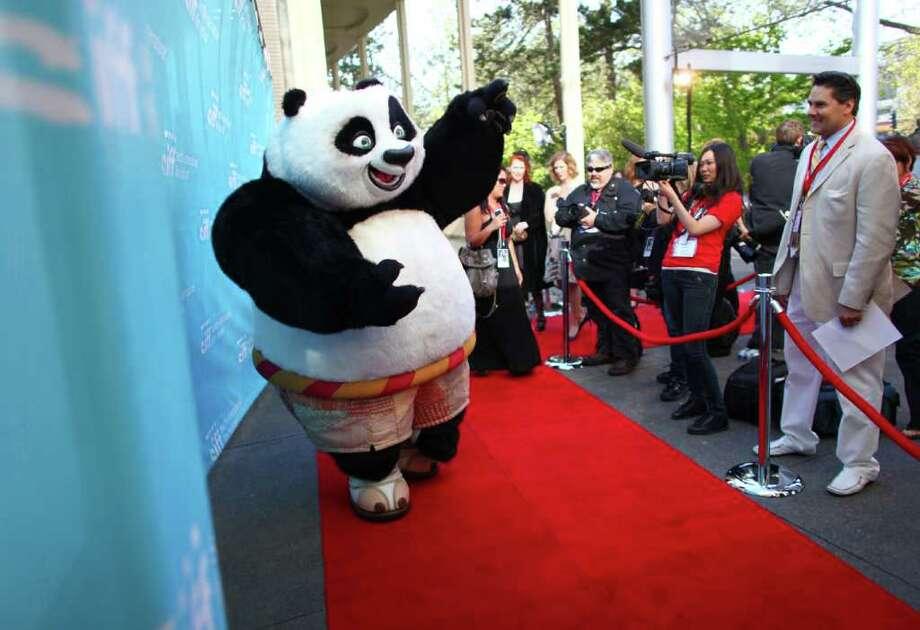 Po the Kung Fu Panda walks on the red carpet. Photo: JOSHUA TRUJILLO / SEATTLEPI.COM
