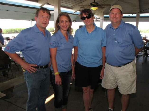 OTS/HEIDBRINK - Jeff Rummel (Pres Alamo Area Boy Scouts), Stephanie Woods (Co Chair), Denise Bendele (Sponsor Rep) and Steve Skinner (Co Chair) were at the ScoutReach fundraiser on 5/12/2011 at the National Shooting Complex. names checked photo by leland a. outz Photo: LELAND A. OUTZ, FREELANCER / SAN ANTONIO EXPRESS-NEWS