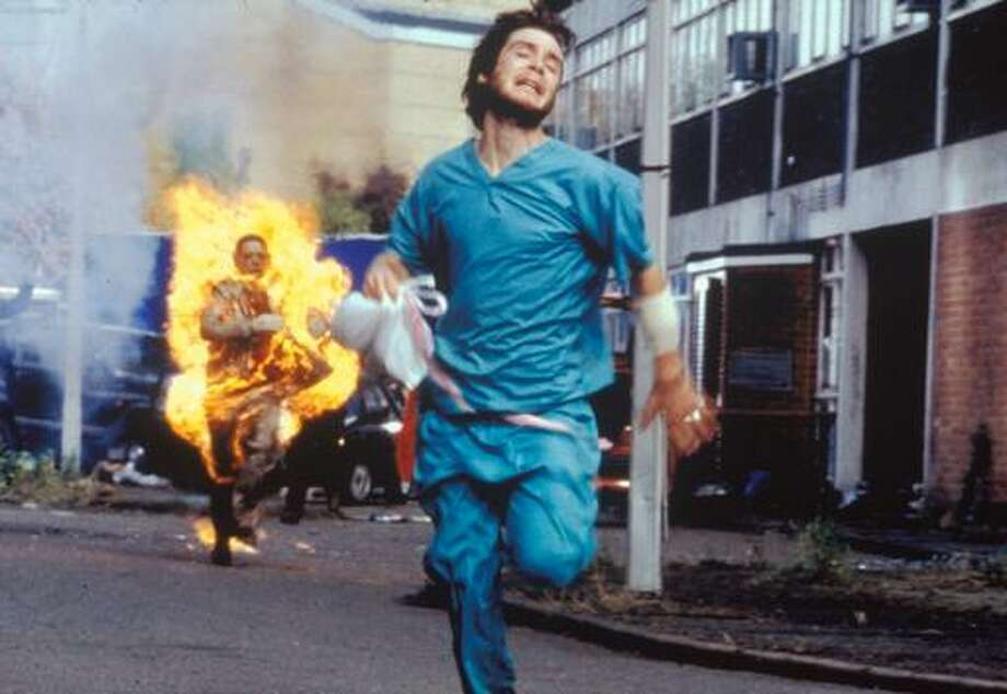 "In ""28 Days Later"" (2002), a contagious ""rage"" virus creates the zombies. Photo: 20th Century Fox / 20th Century Fox"