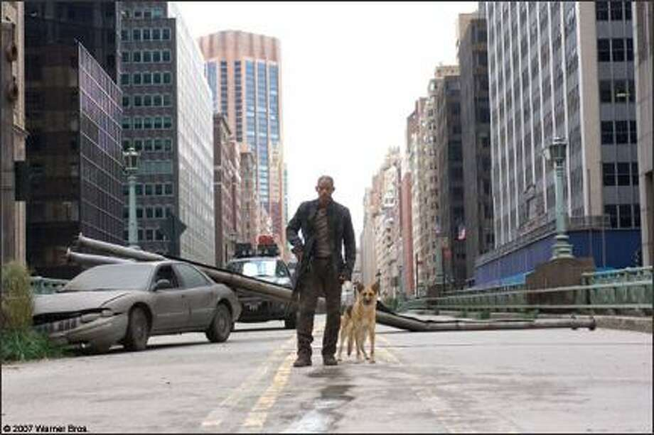"Many movies are set after the end of the world (or, at least, human civilization). In ""I Am Legend"" (2007), Will Smith plays the archetypal Last Man on Earth after a virus kills most of the human race and turns most of the survivors into nightstalking monsters. Photo: Warner Bros. Pictures / Warner Bros. Pictures"
