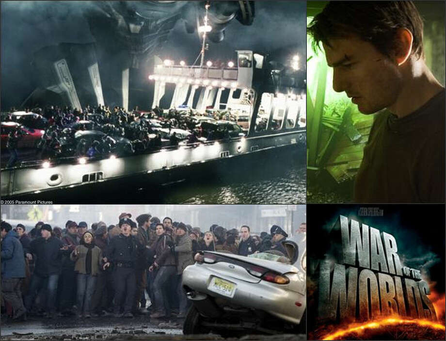 "Alien invaders also tried to wipe out humanity in Steven Spielberg's 2005 remake of ""War of the Worlds,"" starring Tom Cruise (upper right) as a father trying to get his children to safety. Photo: Paramount Pictures / Paramount Pictures"